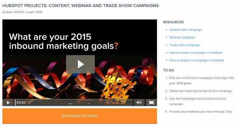 Start the Year Off Right With HubSpot Campaigns